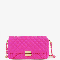 Quilted Neon Crossbody