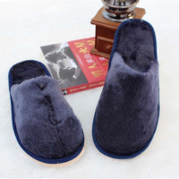 Mens Winter Warm Furry House Indoor Outdoor Home Slippers Shoes = 1704271428
