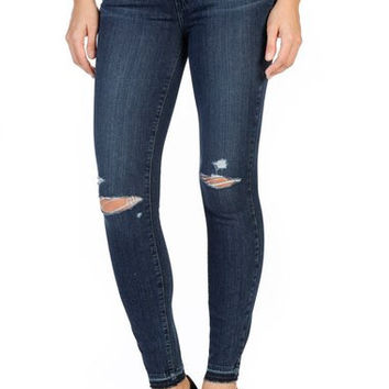 Transcend Verdugo Ripped Ankle Skinny Jeans (Lani Destructed)