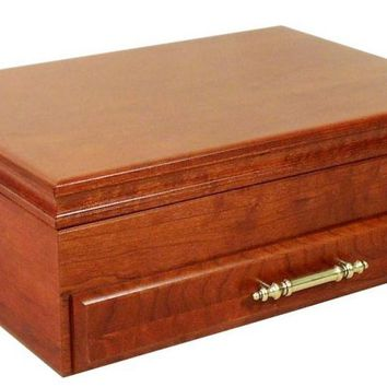 American Chest Flatware Chest Bounty Series - Rich Mahogany on Cherry