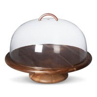 "Threshold™ Acacia Wood Cake Stand (11.625"")"
