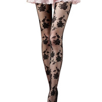 Jan 27 Amazing Spring Summer Rose Sexy Fashion Women Girls Sheer Footed Tights Pantyhose