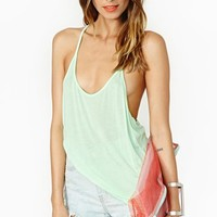 Macy Racerback Tank - Mint  in  Lookbooks Ride On at Nasty Gal