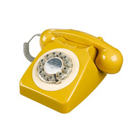 Retro Telephone in Mustard