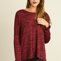 Easy Does It Maroon Top