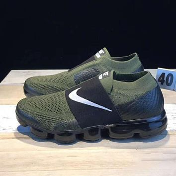 Nike Air Vapormax  Popular Men Sport Leisure Sneakers Running Shoes Army Green I-CSXY