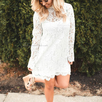 Make it Official White Lace Dress--FINAL SALE