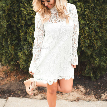 Make it Official White Lace Dress