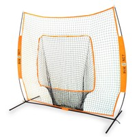 Bownet 7' x 7' Big Mouth - The Original and Most Used Portable Sock Net for Baseball and Softball Hitting and Pitching