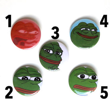 "Pepe the Frog 1.5"" & 2.25"" Button Assortment Pack"