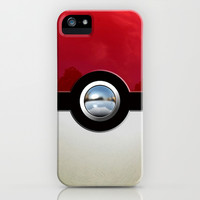 Retro Chrome pokemon pikachu pokeball apple iPhone 4 4s, 5 5s 5c, iPod 4,5 & samsung galaxy s4 case cover