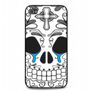 Day of the Dead Skull crying for iphone 4 and 4s case