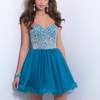 Sweetheart Beaded Homecoming Blush Dress 9862