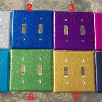 MADE TO ORDER Glitter Double Light Switch Cover