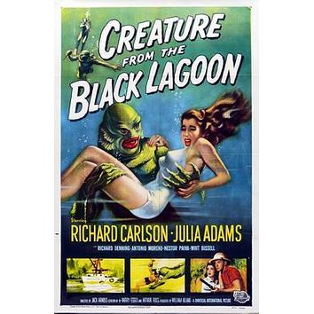 Creature From The Black Lagoon Movie poster Metal Sign Wall Art 8in x 12in