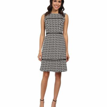 Adrianna Papell - 12249140 Piping Detailed Cutout Dress
