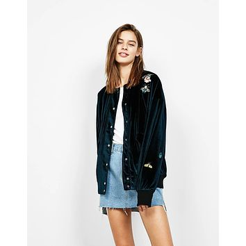 Oh Yes It Is Velvet Embroidery Valour Jacket
