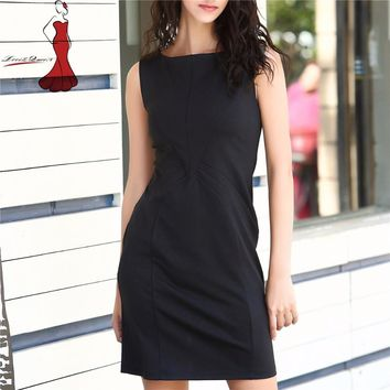 Womens Elegant New Design Office Dresses Wear to Work Casual Party Club Pinup Bodycon Vintage Fitted Slim Black Pencil Dress