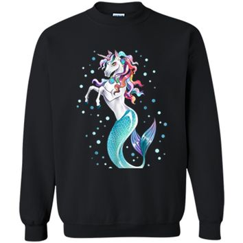 Unicorn Mermaid Mermicorn T Shirt Party Gifts for Girls kids Printed Crewneck Pullover Sweatshirt