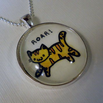 Cat Pendant Kawaii Kitty by cellsdividing on Etsy