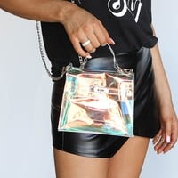 Game Day Translucent Crossbody Clutch Bag