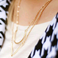 Gift Shiny Jewelry New Arrival Accessory Stylish Simple Design Geometric Necklace [7495335623]
