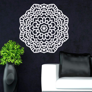 Mandala Wall Decal Sticker Yoga Lotus Flower Decals Indian Decor Meditation Art Bedroom Yoga Studio Bohemian Home Decor Interior Design C097