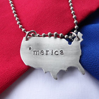 Necklace - 'merica necklace - America