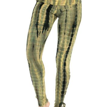 Half Length Woven Leggings with Tie