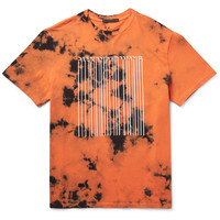 Alexander Wang - Barcode-Printed Tie-Dyed Cotton-Jersey T-Shirt