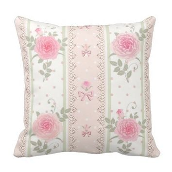 Shabby chic,victorian,floral,wallpaper,vintage, throw pillows