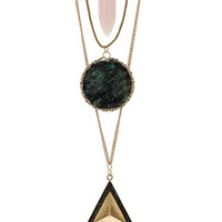 Shard Triangle Circle Necklace