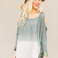 Open Shoulder Gypsy Sweatshirt
