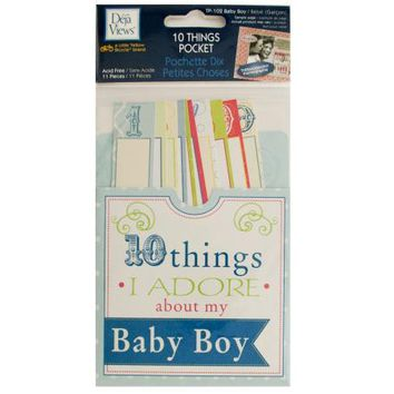 10 Things I Adore About My Baby Boy Journaling Pocket ( Case of 48 )