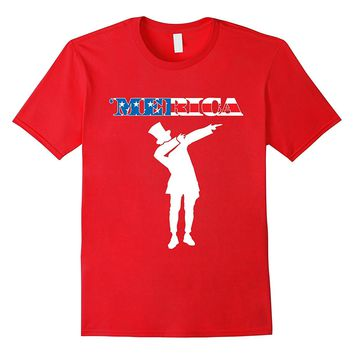 4th Of July Independence Day President Lincoln Dab T-Shirt
