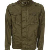 Dark Olive Military Field Jacket