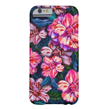 Watercolor Vintage Bright Floral Pattern Barely There iPhone 6 Case
