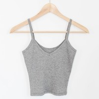 Kenny Crop Tank - Heather Gray