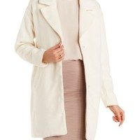 Creme Wool Blend Oversize Coat by Charlotte Russe