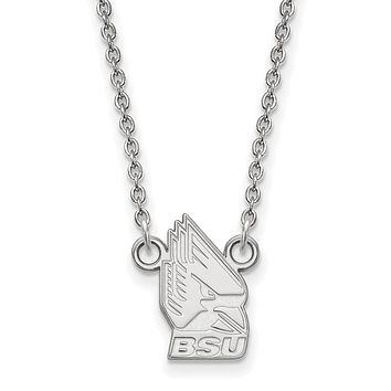 NCAA Sterling Silver Ball State Small Pendant Necklace