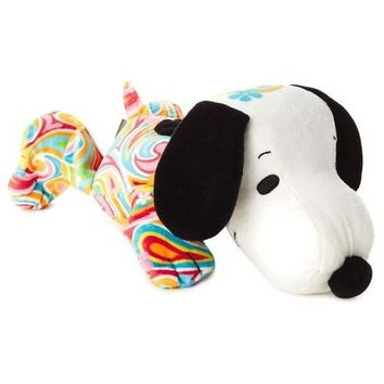 Flower Power Snoopy Stuffed Animal