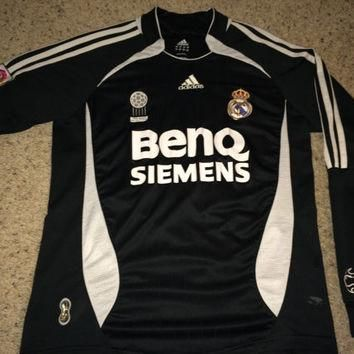 Sale!! Vintage Adidas REAL MADRID Soccer Jersey RMFC Football Shirt #23 David Beckham
