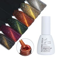BORN PRETTY Cat Eye Nail Gel Polish 10ml Holographic Magnetic Soak Off UV Gel Polish No Need Black Base