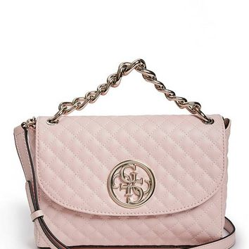 G Lux Quilted Flap Crossbody at Guess