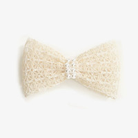 Crocheted Bow Barrette