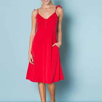 Tie Shoulder Nursing Friendly Dress