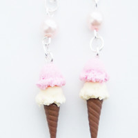 Ice Cream Cone Earrings