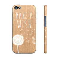 Make A Wish Dandelion Wood - Premium Slim Fit Iphone 5 Case
