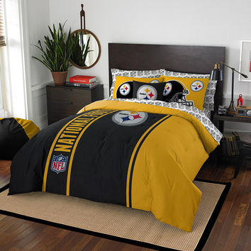 pittsburgh steelers nfl full comforter bed in a bag soft cozy