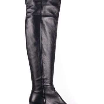 Gianvito Rossi Womens Black Leather Over the Knee High Boots